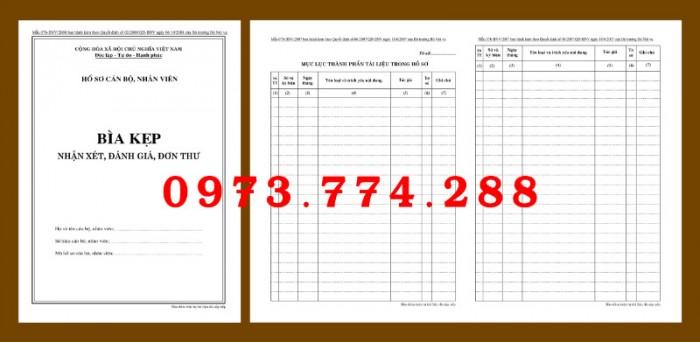 Bìa kẹp nhận xét, đánh giá, đơn thư (BNV) ban hành13