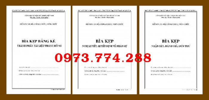 Bìa kẹp nhận xét, đánh giá, đơn thư (BNV) ban hành14