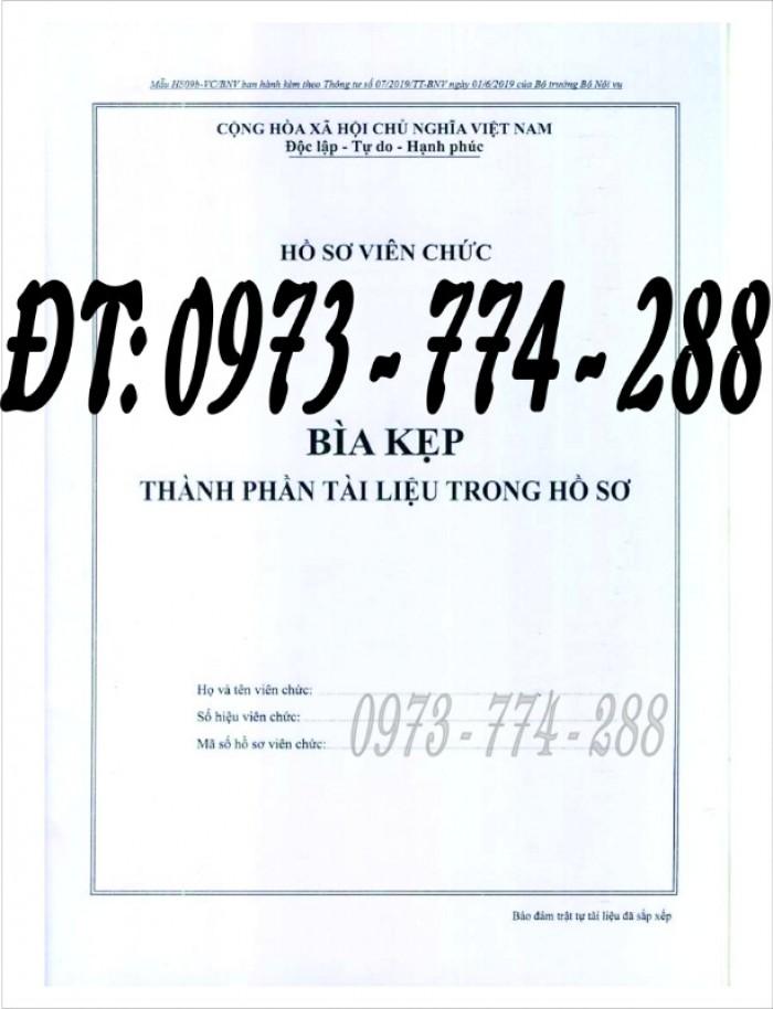Bìa kẹp nhận xét, đánh giá, đơn thư (BNV) ban hành15