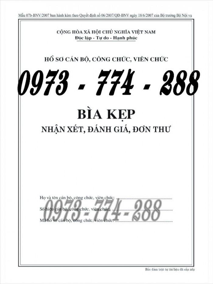 Bìa kẹp nhận xét, đánh giá, đơn thư (BNV) ban hành29