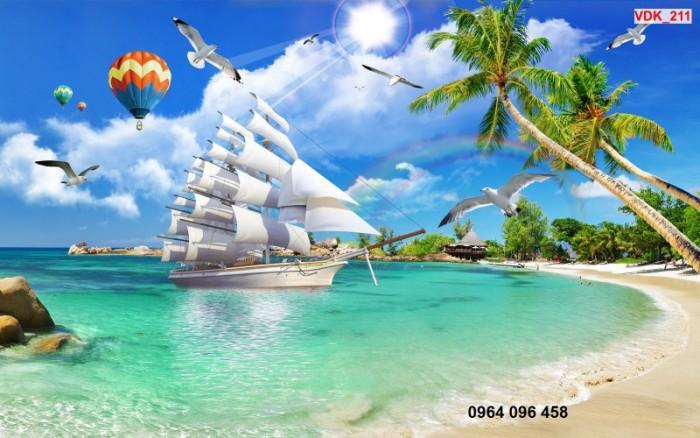 Tranh thuyền buồm 3d3