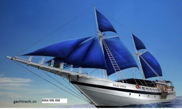Tranh thuyền buồm 3d2