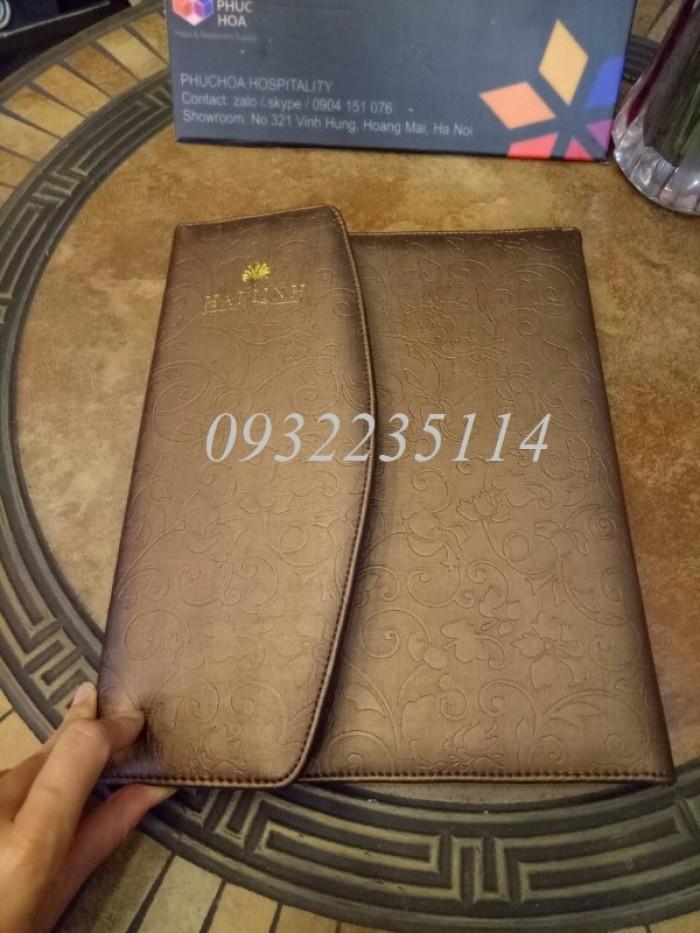 Quyển bìa da trong khách sạn, BÌA DA IN LOGO KHÁCH SẠN6
