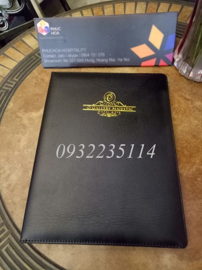 Quyển bìa da trong khách sạn, BÌA DA IN LOGO KHÁCH SẠN7