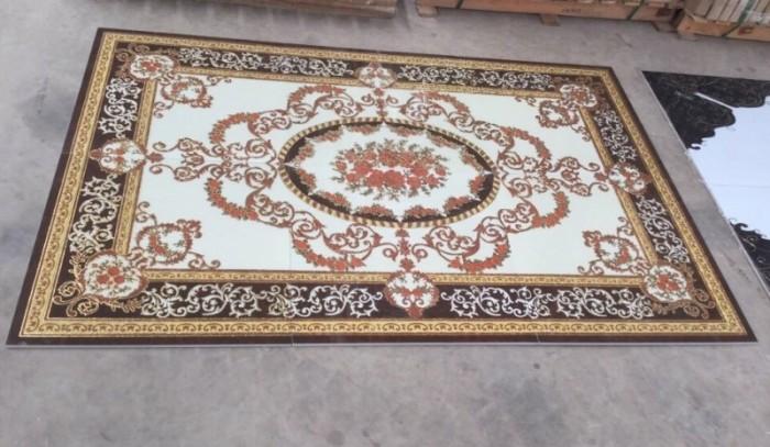 Gạch thảm 3d trang trí phòng khách - 66R1