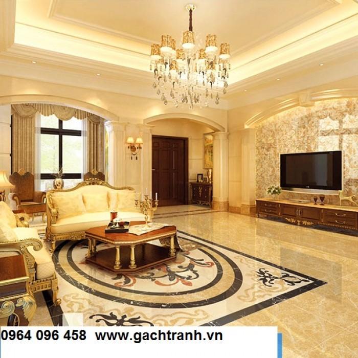 Gạch thảm 3d trang trí phòng khách - 66R4