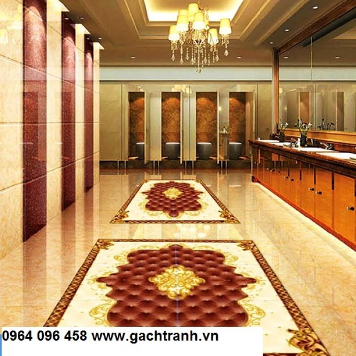 Gạch thảm 3d trang trí phòng khách - 66R5