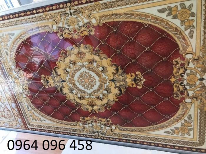 Gạch thảm 3d hoa văn lát phòng khách - 54F7