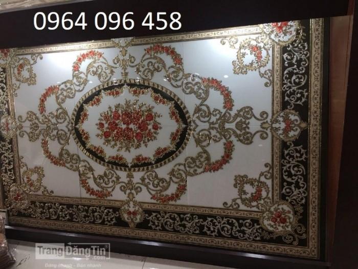 Gạch thảm 3d hoa văn lát phòng khách - 54F6
