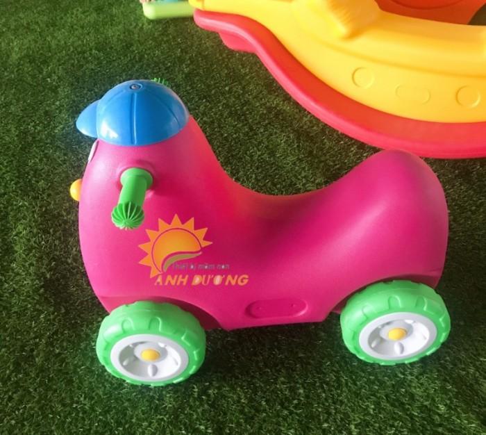 Xe chòi chân 4 bánh hình con vật đáng yêu cho trẻ em mầm non1