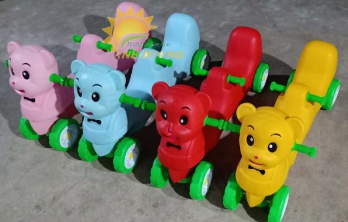 Xe chòi chân 4 bánh hình con vật đáng yêu cho trẻ em mầm non3