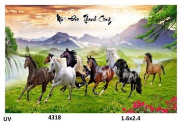 Tranh gạch men ốp tường 3d mẫu tranh con ngựa1