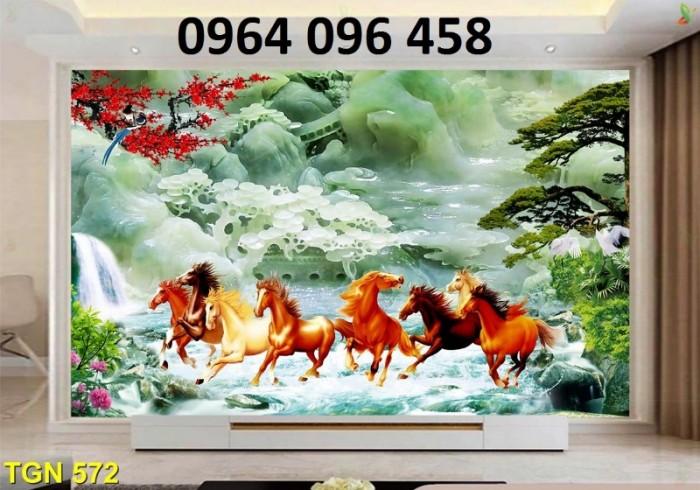Tranh gạch men ốp tường 3d mẫu tranh con ngựa3