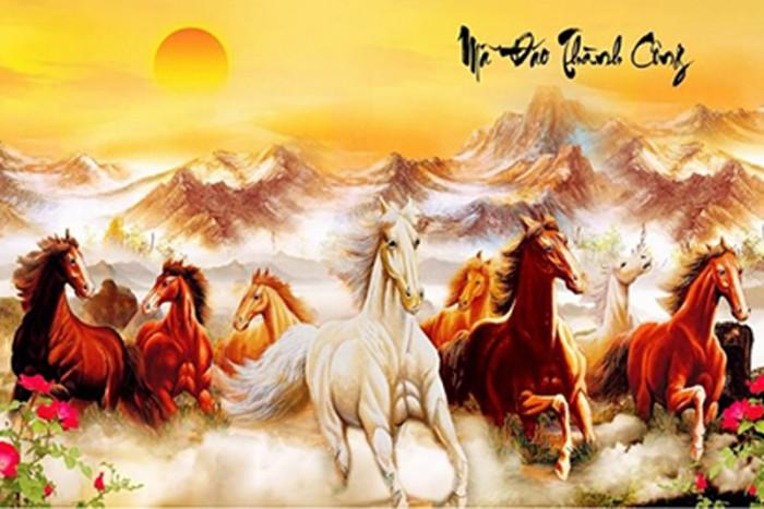 Tranh gạch men ốp tường 3d mẫu tranh con ngựa7
