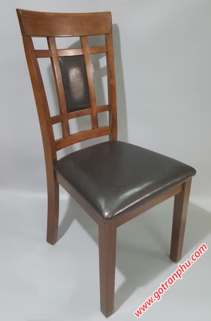 Ghế bàn ăn đẹp gỗ cao su nhập khẩu cao cấp (bọc da)1
