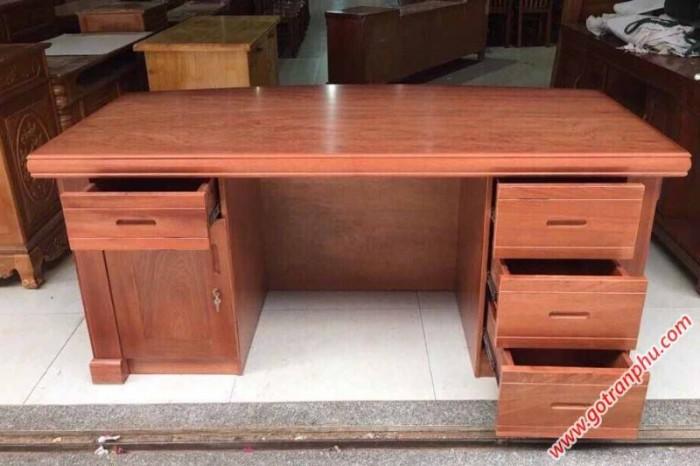 Bàn văn phòng làm việc gỗ căm xe 1m40