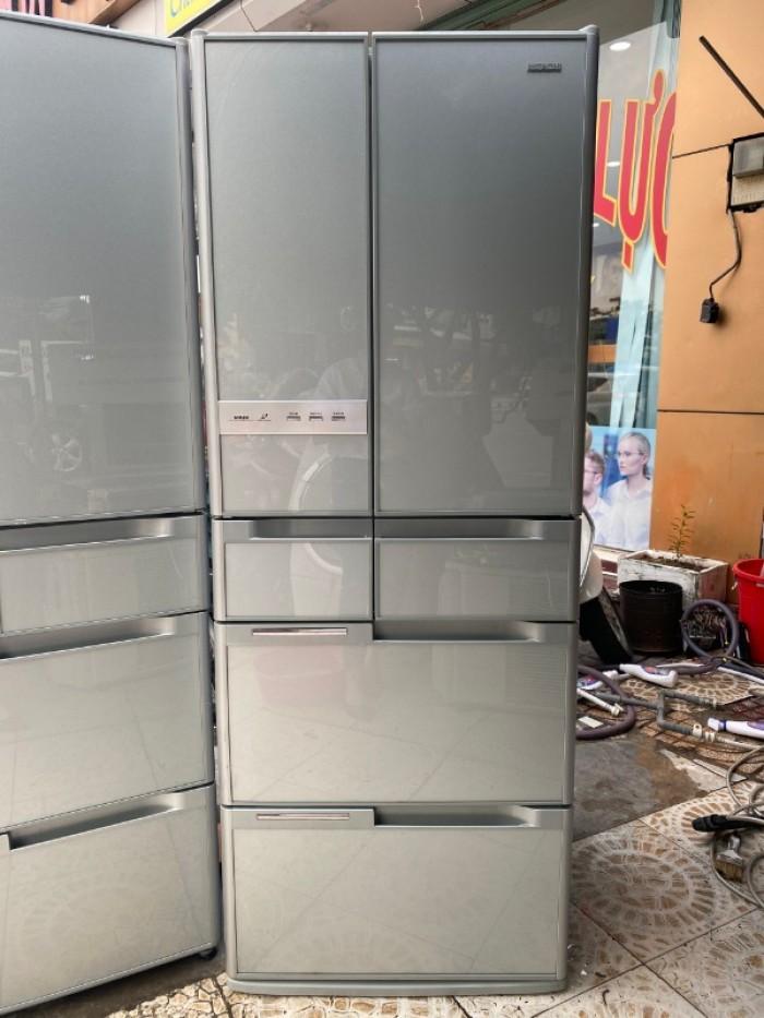 Tủ lạnh HITACHI R-Y5400 543L mặt gương , hút chân không, cửa trợ lực0