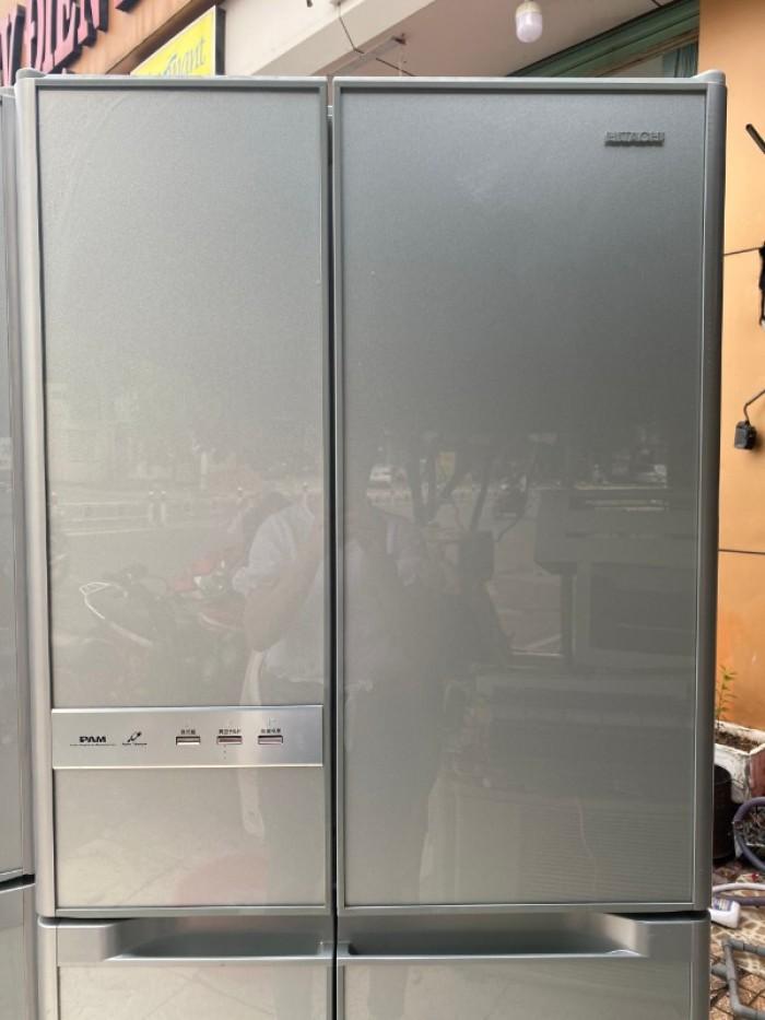 Tủ lạnh HITACHI R-Y5400 543L mặt gương , hút chân không, cửa trợ lực12