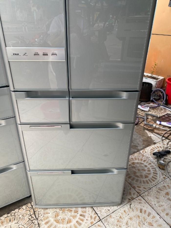 Tủ lạnh HITACHI R-Y5400 543L mặt gương , hút chân không, cửa trợ lực8