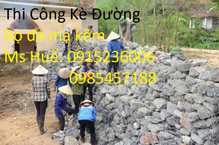 Nhật Minh Hiếu sản xuất Rọ Đá mạ kẽm, Rọ đá bọc nhựa theo yêu cầu khách hàng0