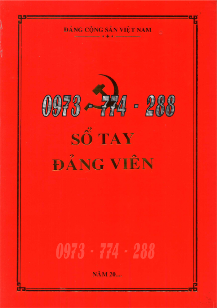 Sổ tay Đảng viên giá cả chất lượng tốt nhất tại Hà Nội29