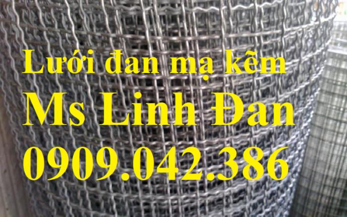 Lưới thép đan mạ kẽm, chuyên cung cấp lưới đan mạ kẽm, báo giá lưới đan vuông