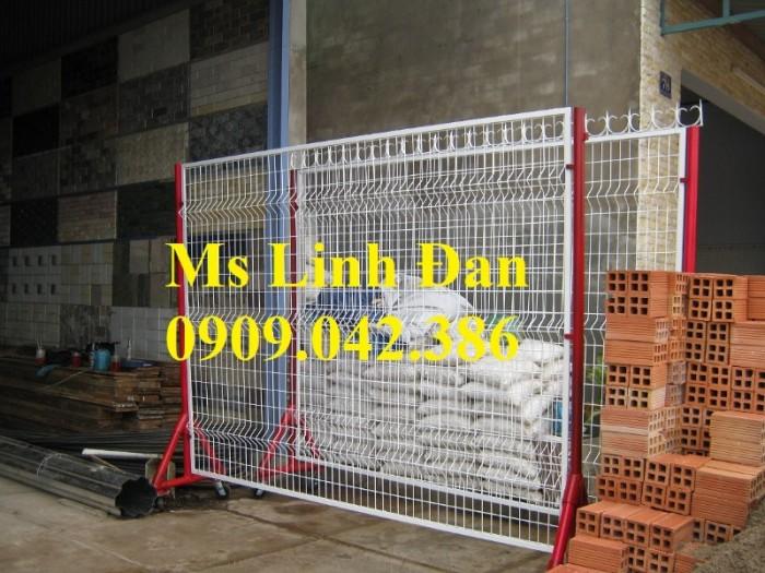 Lưới thép hàng rào di động có bánh xe, lưới thép hàng rào di động,