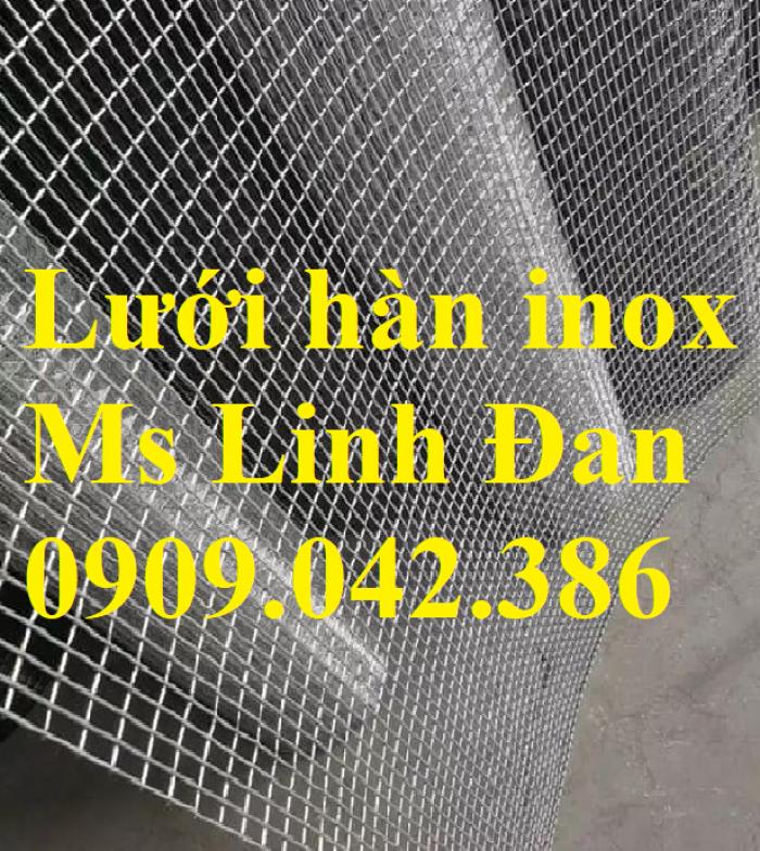 Lưới hàn inox, lưới hàn inox ô vuông, chuyên cung cấp lưới hàn inox, lưới hàn6
