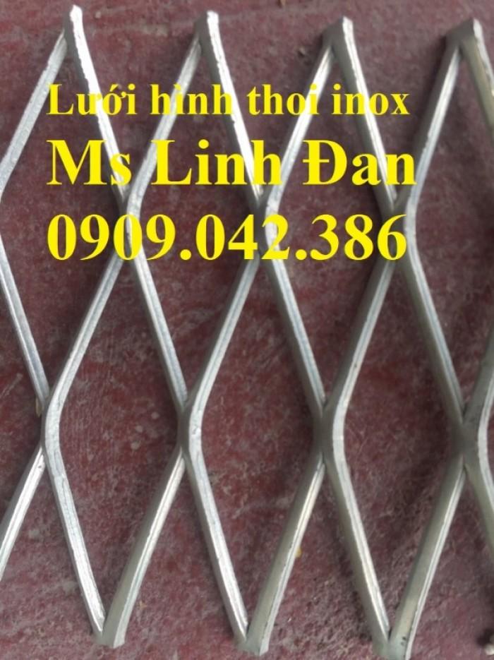 Lưới hình thoi inox, lưới mắt cáo inox, lưới kéo giãn inox, lưới inox4