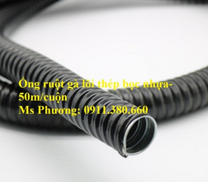 Ống ruột gà lõi thép bọc nhựa PVC phi 16, phi 20, phi 25, phi 32, phi 38, ...2