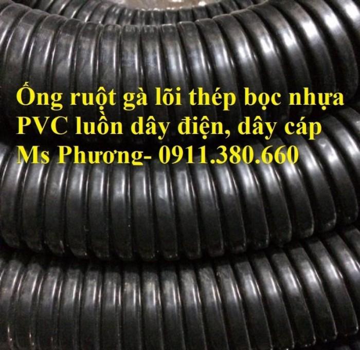 Ống ruột gà lõi thép bọc nhựa PVC phi 16, phi 20, phi 25, phi 32, phi 38, ...5