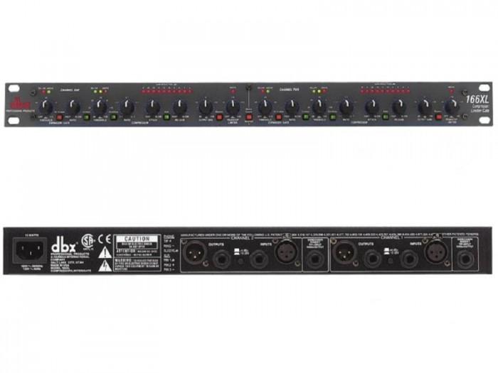 Mixer nén tiếng DBX-166XL Giảm tỷ lệ và tốc độ giao động âm thanh, tạo ra âm thanh chắc gọn, xử lý các giao động cộng hưởng.0