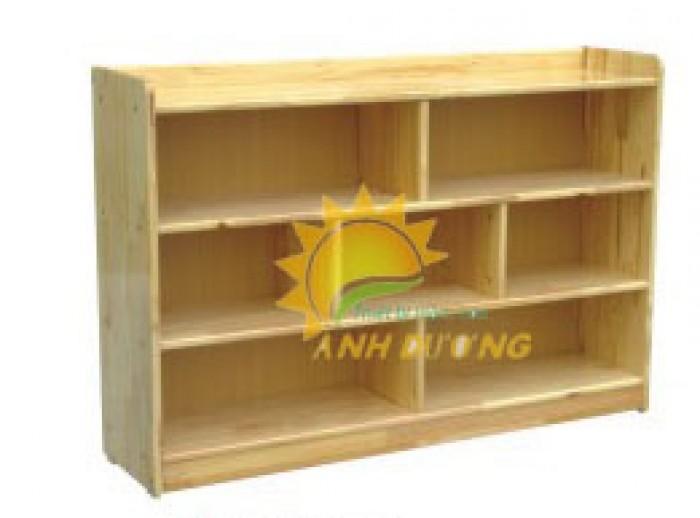 Tủ kệ gỗ trẻ em cho trường mầm non, lớp mẫu giáo, gia đình4