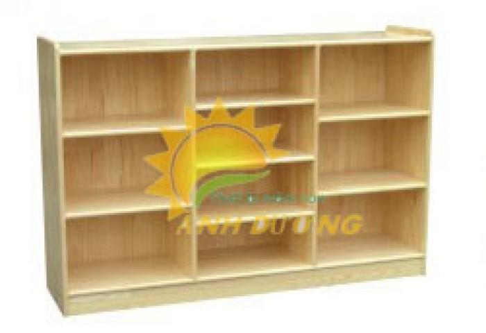 Tủ kệ gỗ trẻ em cho trường mầm non, lớp mẫu giáo, gia đình1