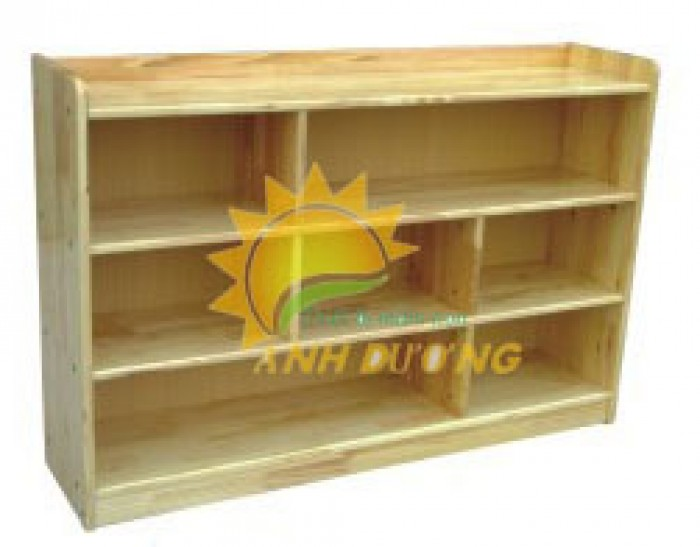 Tủ kệ gỗ trẻ em cho trường mầm non, lớp mẫu giáo, gia đình3