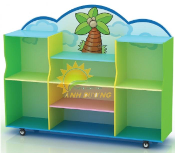 Tủ kệ gỗ trẻ em cho trường mầm non, lớp mẫu giáo, gia đình14