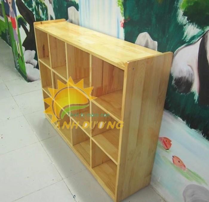Tủ kệ gỗ trẻ em cho trường mầm non, lớp mẫu giáo, gia đình19
