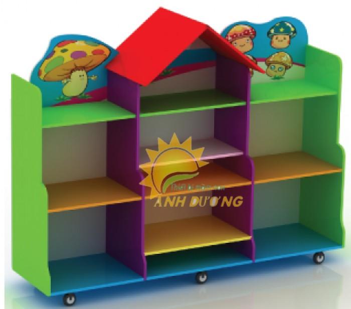 Tủ kệ gỗ trẻ em cho trường mầm non, lớp mẫu giáo, gia đình6