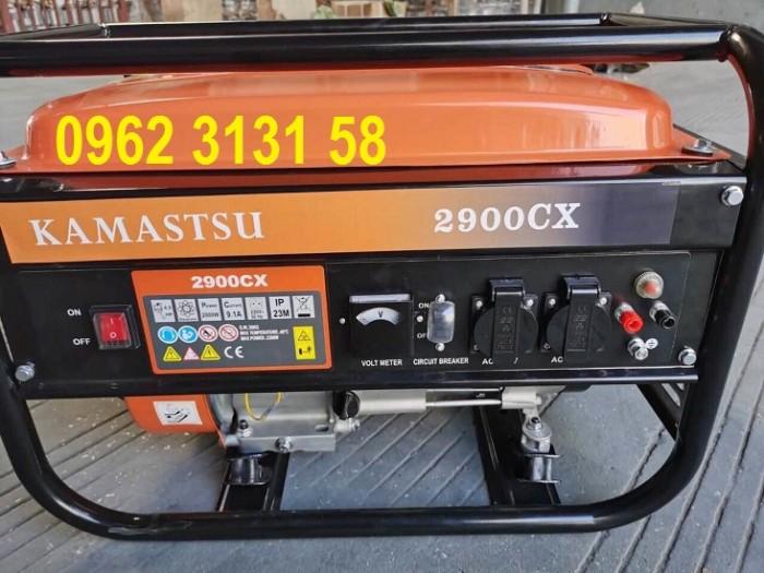 Máy phát điện chạy xăng 2kw Kamastsu 2900CX giá rẻ cho hộ gia đình