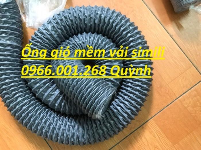 Ống gió mềm vải simili chịu nhiệt D40,D50,D60,D75,D100 D115 giá tốt nhất2