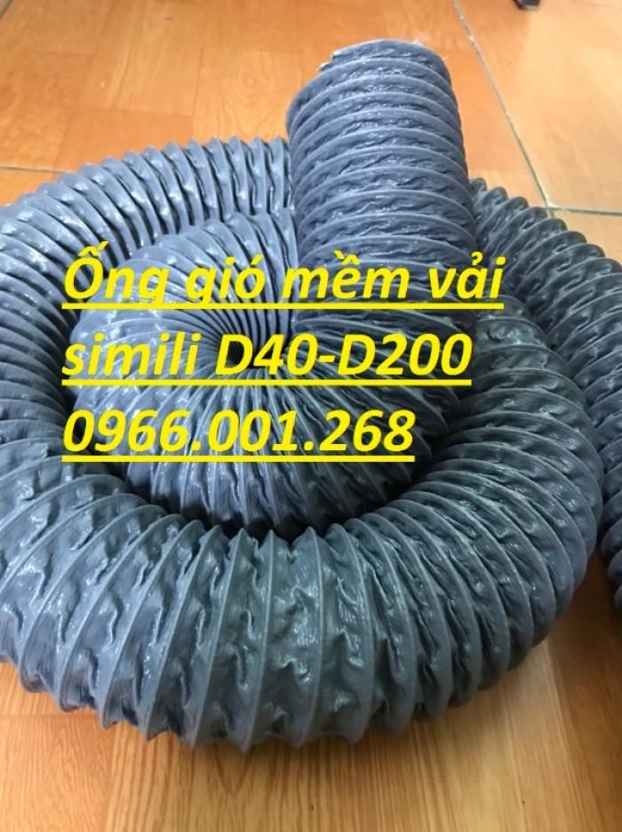Ống gió mềm vải simili chịu nhiệt D40,D50,D60,D75,D100 D115 giá tốt nhất3