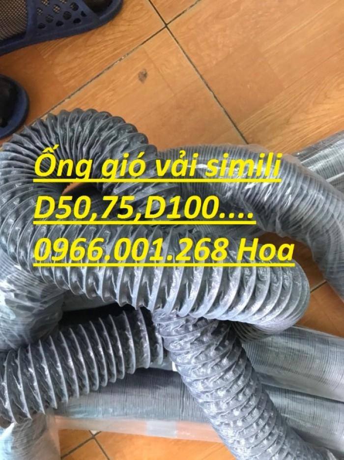 Ống gió mềm vải simili chịu nhiệt D40,D50,D60,D75,D100 D115 giá tốt nhất5