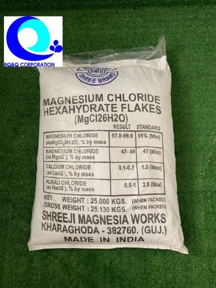 Mua bán muối MgCl2 dạng vảy Ấn Độ giá tốt Magie clorua (MgCl2) Cung cấp khoán0