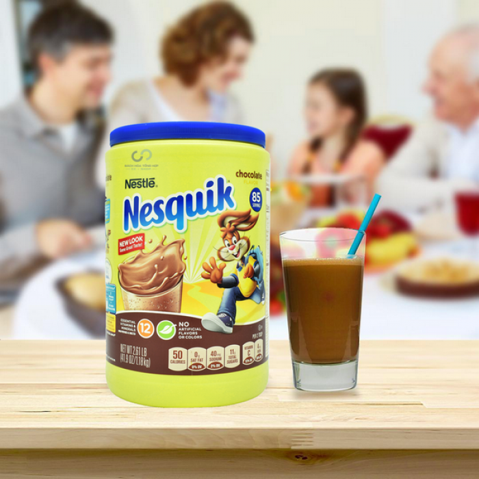 Bột cacao Nesquick (Mỹ): 340k/hộp 1180gr, date t10/218