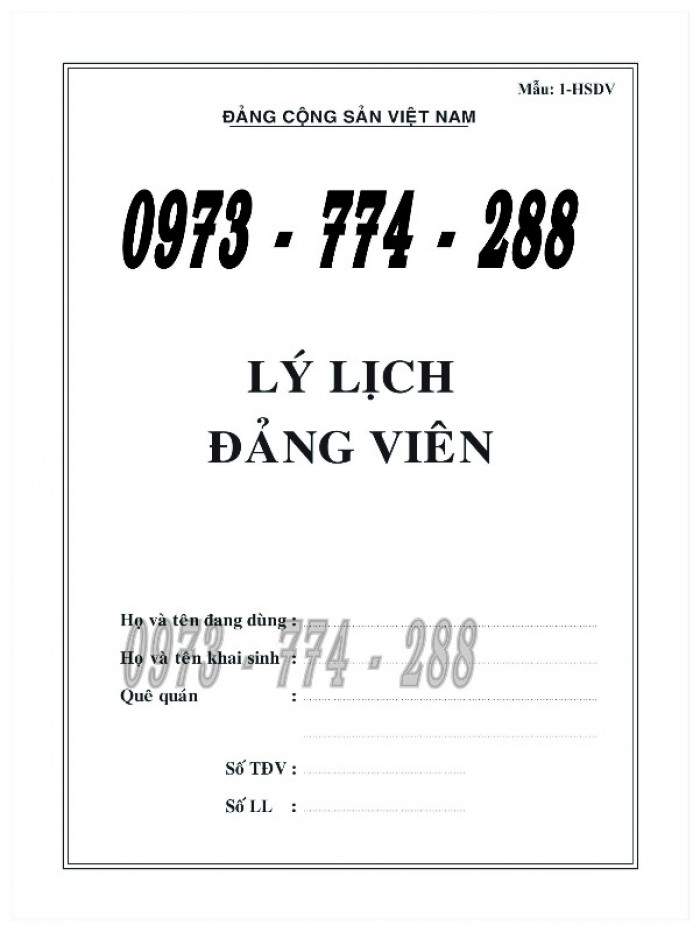 Bán quyển lý lịch của người xin vào Đảng5