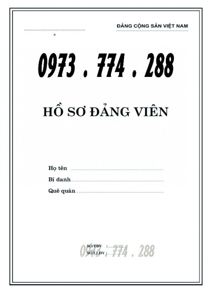 Bán quyển lý lịch của người xin vào Đảng14