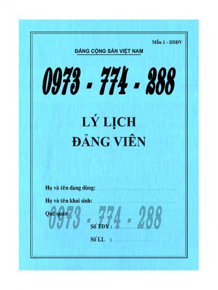 Bán lý lịch của người  xin vào đảng gồm có quyển bìa trắng, bìa xanh, bìa màu búa liềm8