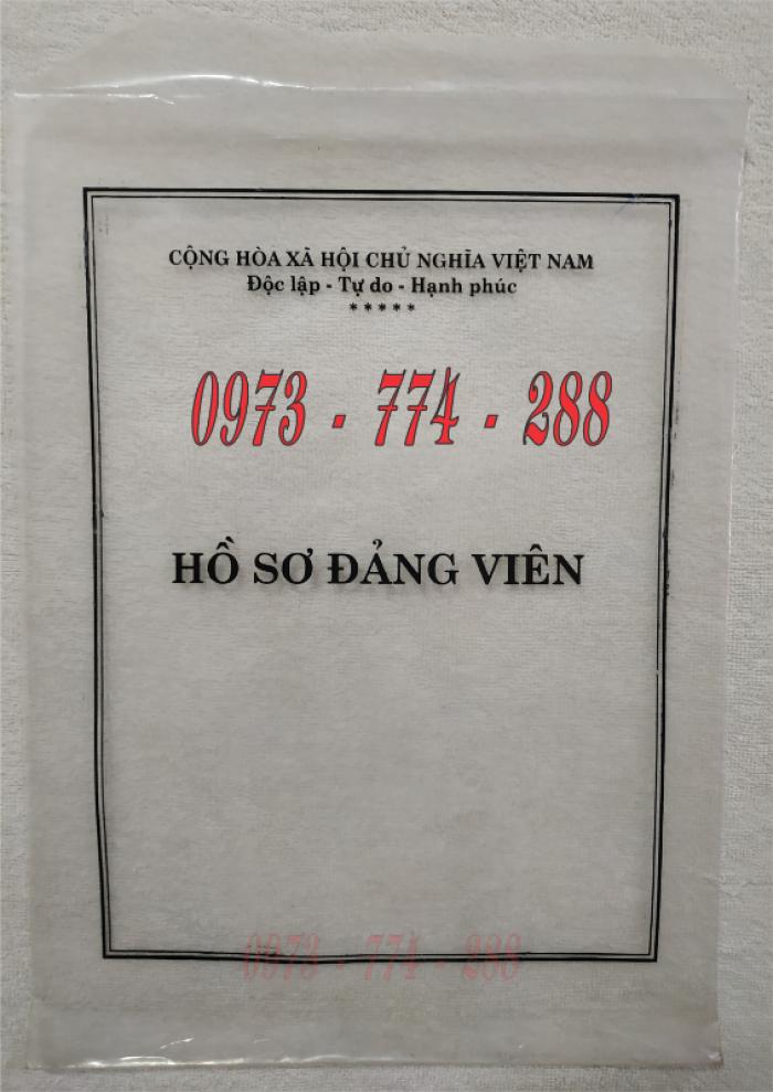 Bán lý lịch của người  xin vào đảng gồm có quyển bìa trắng, bìa xanh, bìa màu búa liềm9