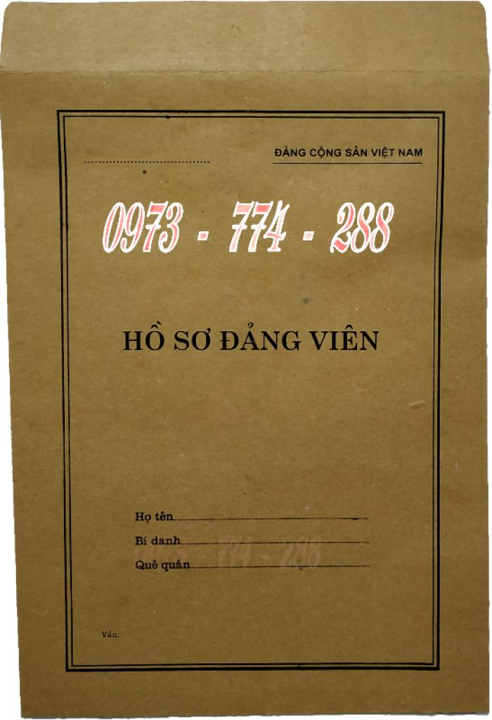 Bán lý lịch của người  xin vào đảng gồm có quyển bìa trắng, bìa xanh, bìa màu búa liềm10