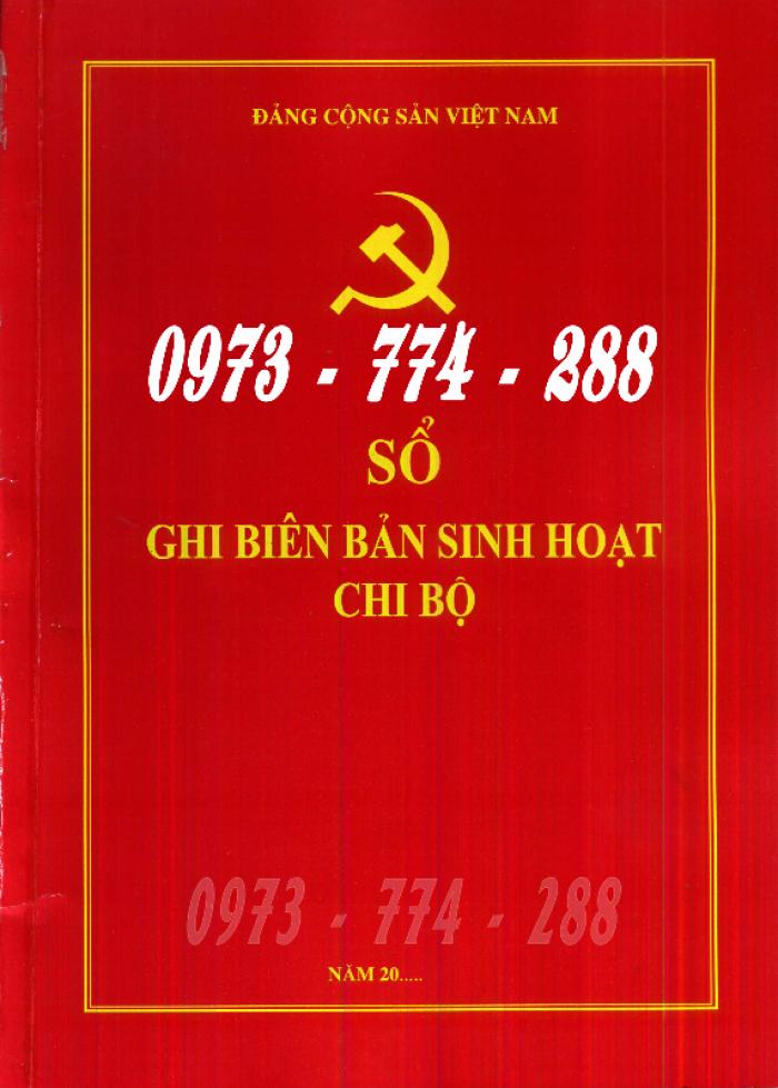Bán lý lịch của người  xin vào đảng gồm có quyển bìa trắng, bìa xanh, bìa màu búa liềm20